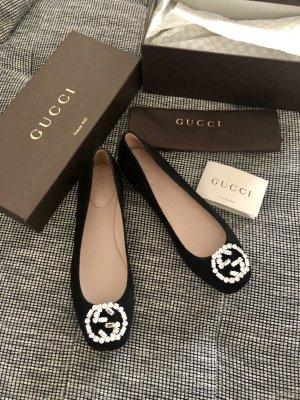 Gucci Ballerina di pelle verniciata nero