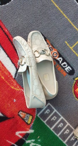 Gucci Moccasins silver-colored-light grey