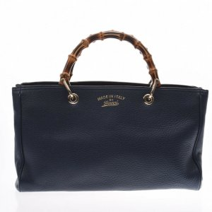 Gucci Shopper bleu cuir
