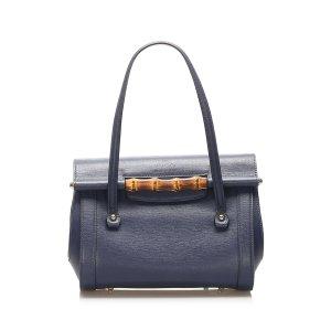 Gucci Bamboo Bar Leather Handbag