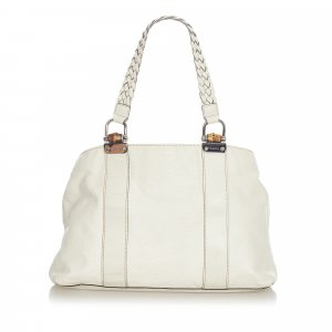Gucci Bamboo Bar Leather Tote Bag
