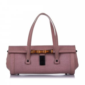 Gucci Bamboo Bullet Leather Handbag