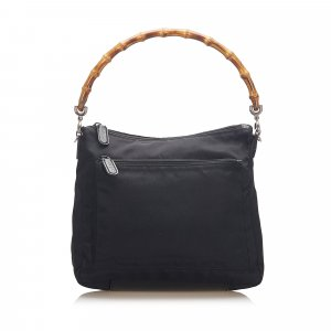 Gucci Bamboo Canvas Satchel