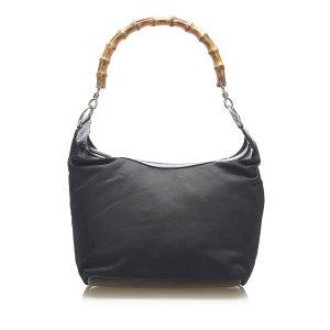 Gucci Bamboo Canvas Shoulder Bag