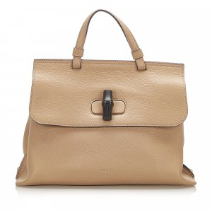 Gucci Bamboo Daily Leather Satchel