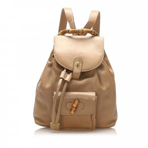 Gucci Backpack beige leather