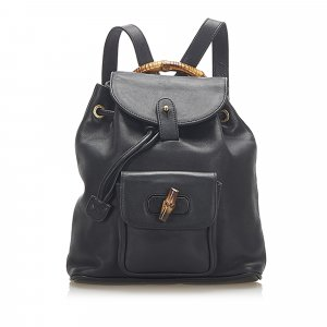 Gucci Backpack black leather