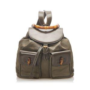 Gucci Backpack khaki nylon