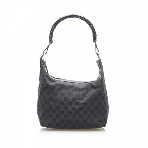 Gucci Bamboo GG Canvas Handbag