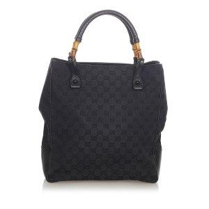 Gucci Bamboo GG Canvas Tote Bag