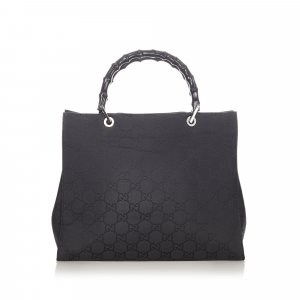 Gucci Bamboo GG Nylon Handbag