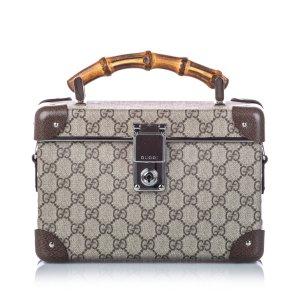 Gucci Bamboo GG Supreme Globe Trotter Beauty Case