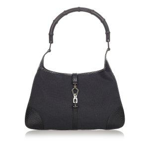 Gucci Bamboo Jackie Canvas Handbag