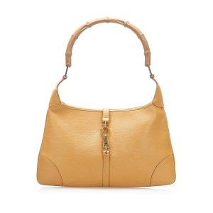 Gucci Bamboo Jackie Leather Shoulder Bag