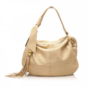 Gucci Hobos beige leather