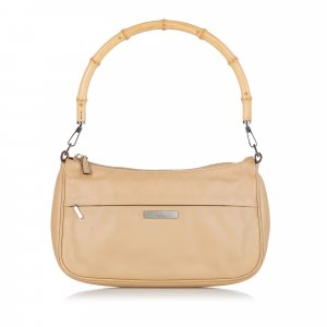 Gucci Bamboo Leather Baguette