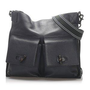 Gucci Bamboo Leather Crossbody Bag