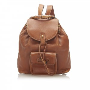 Gucci Backpack brown leather
