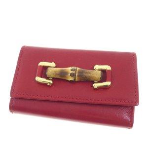 Gucci Etui voor sleutels rood Leer