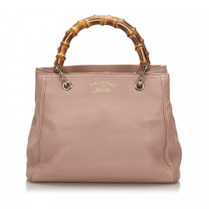 Gucci Bamboo Leather Shopper