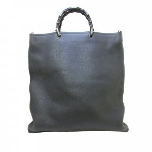 Gucci Bamboo Leather Tote Bag