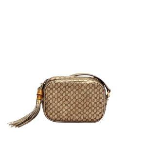Gucci Bamboo Microguccissima Disco Leather Crossbody Bag