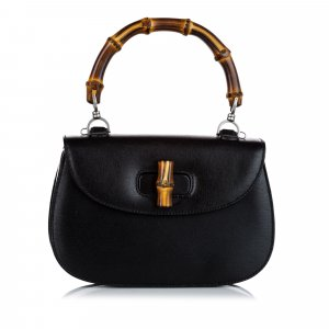 Gucci Bamboo Night Leather Handbag