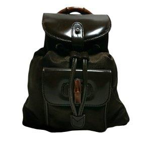 Gucci Bamboo Nylon Backpack