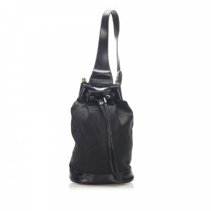 Gucci Bamboo Nylon Bucket Bag