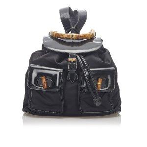 Gucci Sac à dos noir nylon