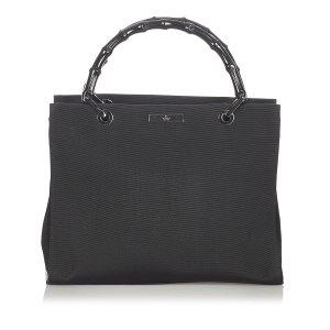 Gucci Bamboo Nylon Handbag