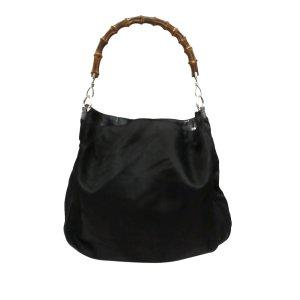 Gucci Bamboo Nylon Shoulder Bag