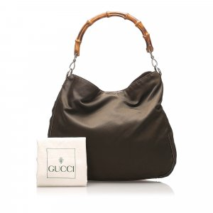 Gucci Bamboo Nylon Shoulder Bag