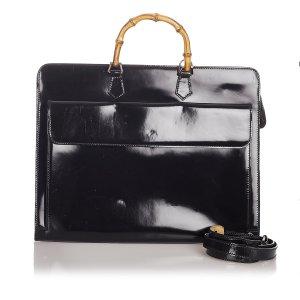 Gucci Serviette noir faux cuir