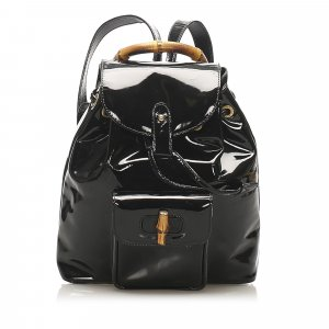 Gucci Backpack black imitation leather