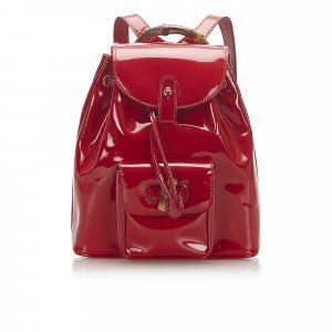 Gucci Backpack red imitation leather