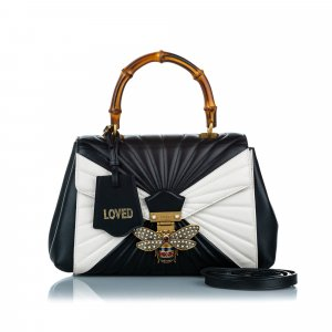 Gucci Bamboo Queen Margaret Leather Satchel