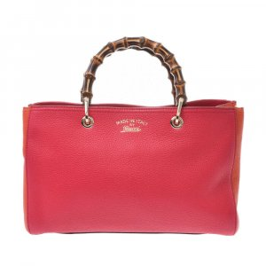 Gucci Tote red leather