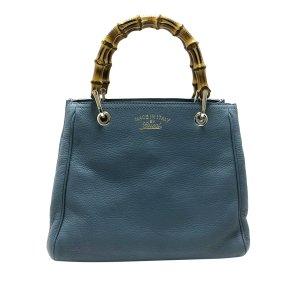 Gucci Bamboo Shopper Leather Handbag