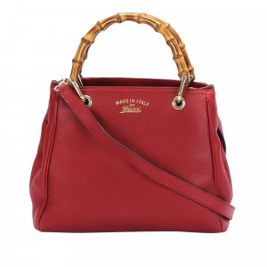 Gucci Bamboo Shopper Leather Satchel
