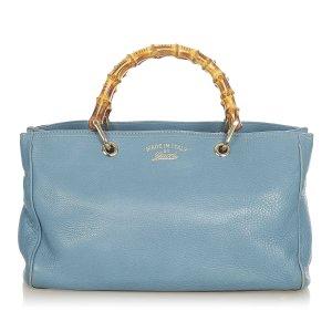 Gucci Tornister niebieski Skóra