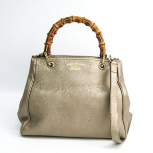 Gucci Bamboo Shopper Medium Womens Leatherbamboo