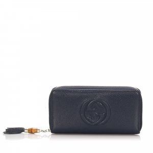 Gucci Bamboo Soho Leather Long Wallet