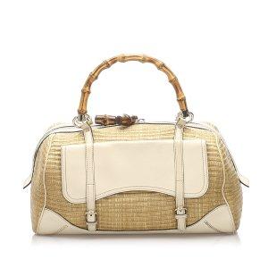 Gucci Bamboo Straw Handbag