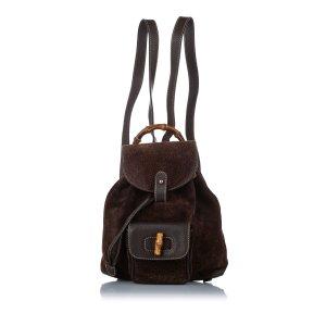 Gucci Backpack dark brown suede