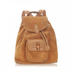 Gucci Backpack light brown suede