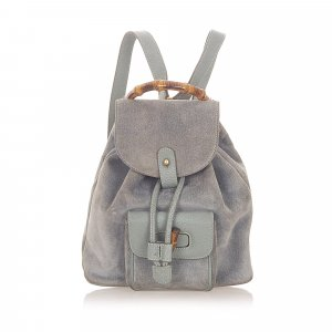 Gucci Backpack light blue suede
