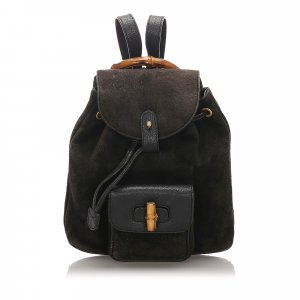 Gucci Bamboo Suede Backpack
