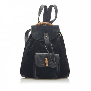 Gucci Backpack black suede