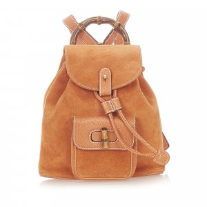 Gucci Backpack orange suede